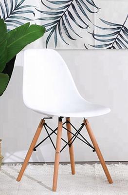 Biela moderná stolička