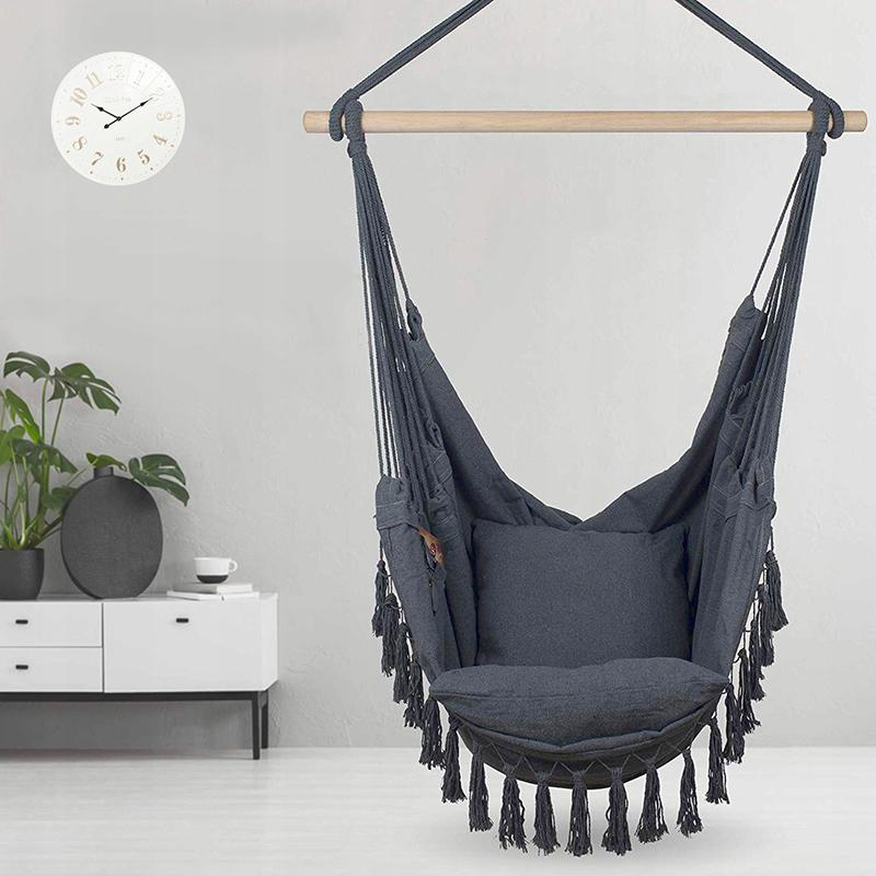 Balansoar confortabil suspendat în gri