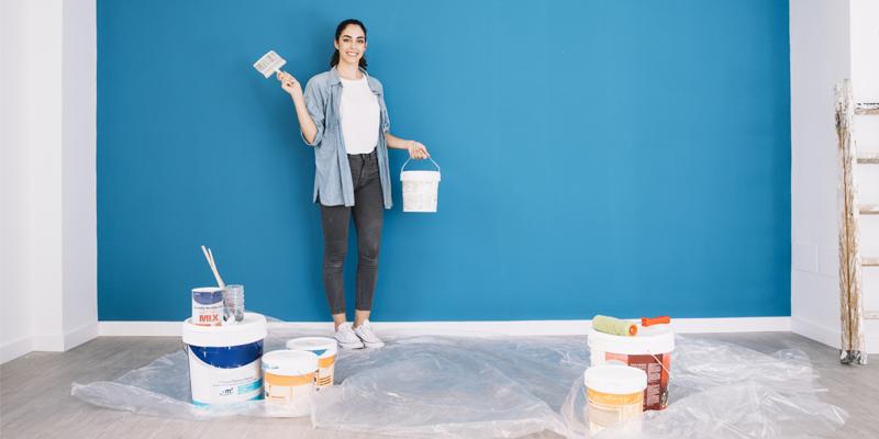 Namalovaná ložnice