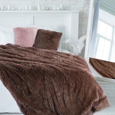 Hnedá chlpatá deka